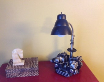 Motorcycle desk lamp. Motorcycle lamp.