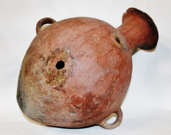 Pre Columbian : Very Nice Large Mapuche Pottery Earthen Ware Storage Vessel from Chile #400
