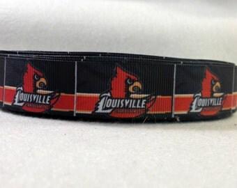 7/8 Louisville Cardinals Grosgrain Ribbon
