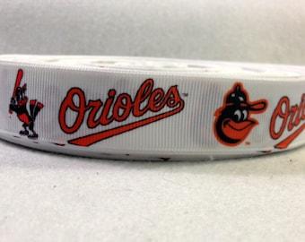 7/8 Baltimore Orioles Grosgrain Ribbon
