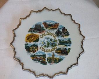 Colorful Colorado Sunburst Sourvenir Plate