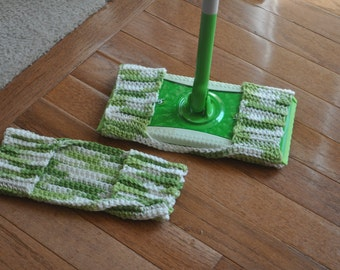 Crocheted dust mop cover