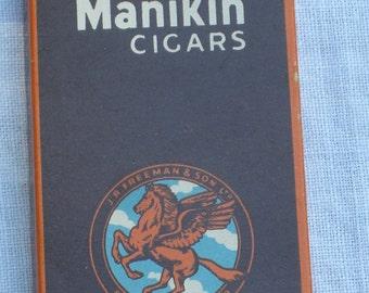 Cigar Box - Manikin - With one Cigar - Vintage