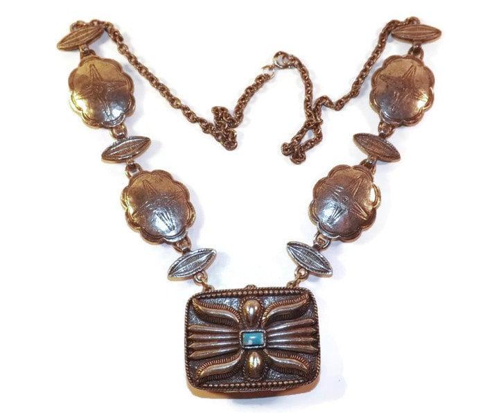estee lauder solid perfume pendant necklace southwestern