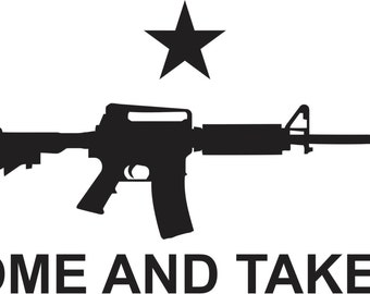 Molon Labe Come and Take It AR Sticker