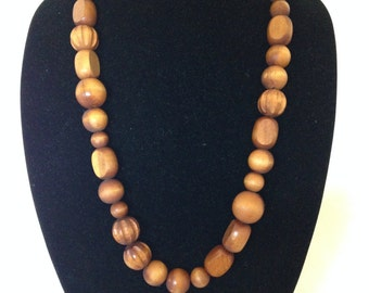 Basic Brown Beaded Necklace