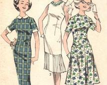 """Advance 8905 Sub-Teen """"Three Silhouettes"""" Dress / ca. 1959 / SZ14S UNCUT"""