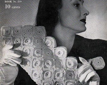 Coats & Clark's Book No. 219 Luscious Bags 1945