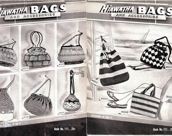 Hiawatha Bags and Accessories Book No. 111 Extravagant Hats & Purses! 1952