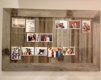 Rustic Wall Art - Upcycled Picture Frame, photo hanger