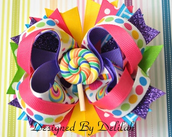 Candy Birthday Bow