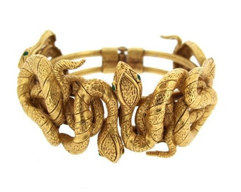 Askew London Snake Bracelet Gold Plated