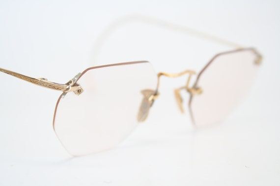 Antique Eyeglasses Gold Rimless Antique by AntiqueEyeglasses
