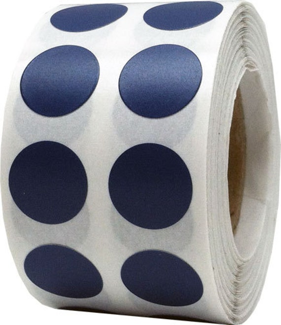 1000 Navy Blue Dot Stickers Small 1 2 Inch Round