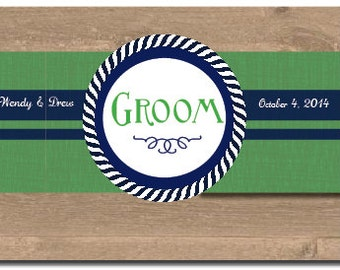 Nautical Bride and Groom Signs