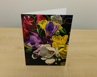 Gift Card - Spring Freesia Flowers