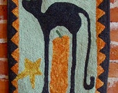 Scaredy Cat Rug Hooking Pattern