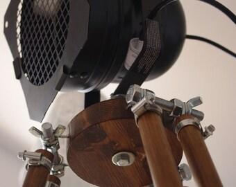 Standing Lamp REFLECTOR LOFT Tripod BLACK