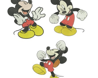 INSTANT DOWNLOAD Machine Embroidery Designs. Set Mickey Mouse. Mickey Mouse.