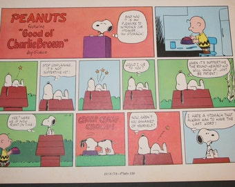 Popular Items For Charlie Brown Comic On Etsy