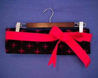 Black and Pink obi belt.