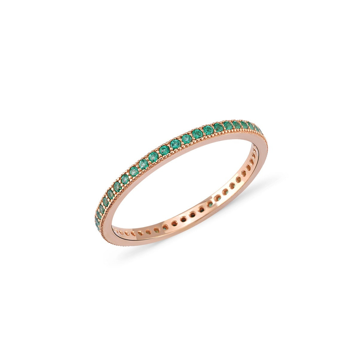 Emerald Eternity Band Ring. Zirconia Diamond. Pink Rings. Platinum Bangles. Solid Gold Ankle Bracelets. Jewelry Stores. Lime Green Bracelet. Square Cut Rings. Glamorous Wedding Rings