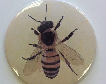 Queen Bee Design Large Pocket Mirror