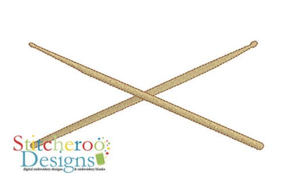 drum sticks filled design in hoop sizes 4x4 5x7 6x10 7x7. Black Bedroom Furniture Sets. Home Design Ideas