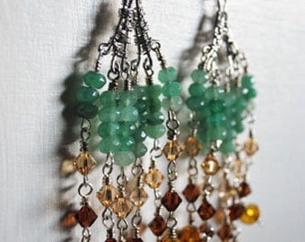Long Swarovski Crystal earrings