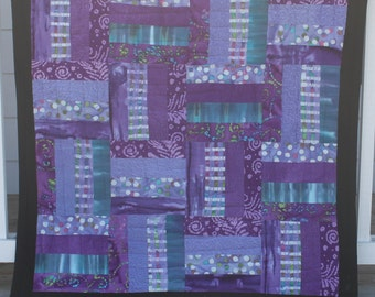 Black and Purple Baby Girl Quilt