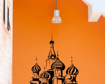 Wall Stickers Vinyl Decal Kremlin Russian Ortodox Church (z2013)
