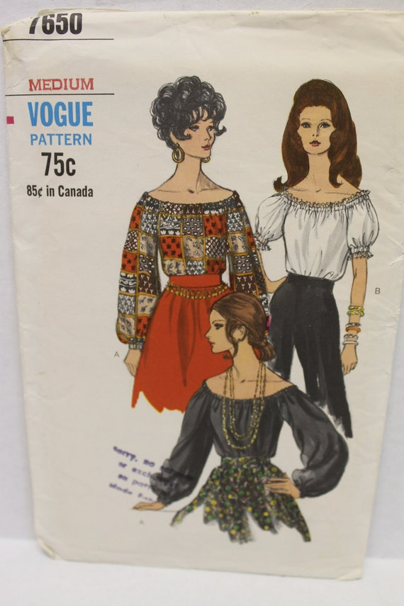 Vogue Peasant Blouse Pattern 23