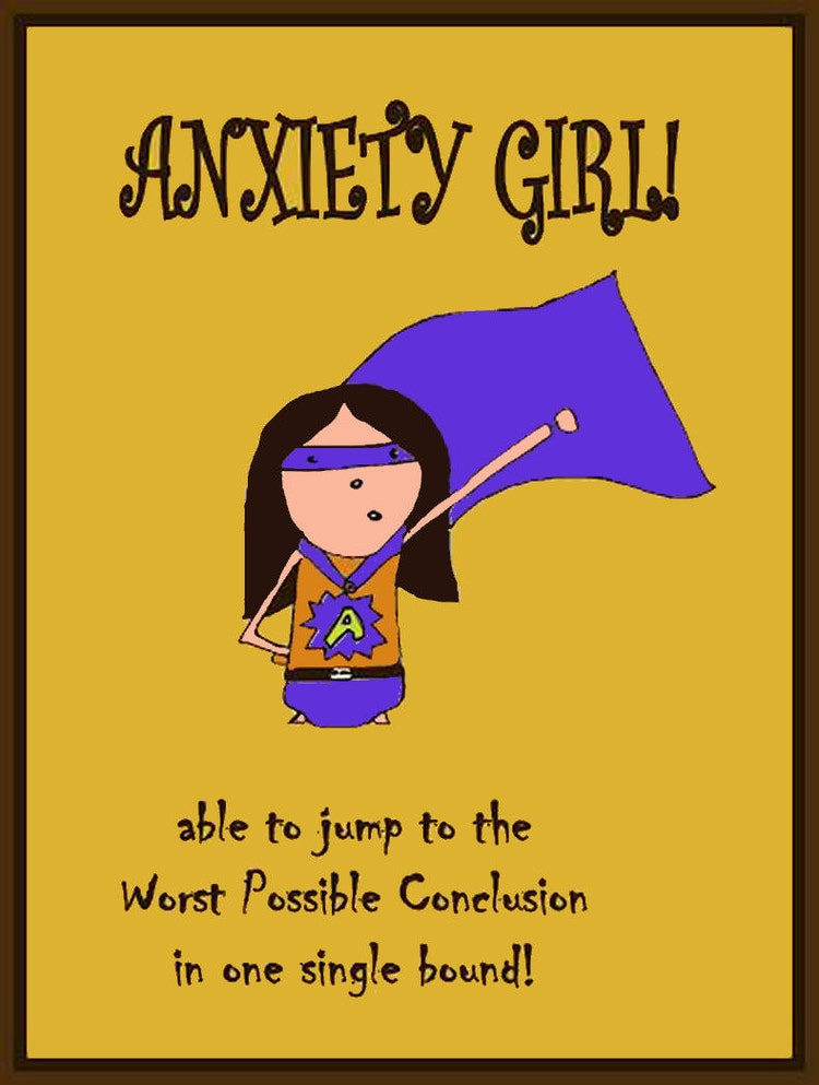 Anxiety Girl Jumps To The Wrong Conclusions By Carambaclothes