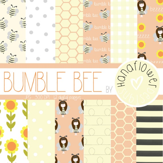 Bumble Bee Digital Paper Pack
