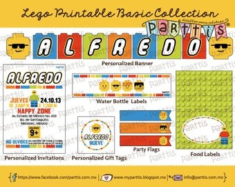 Lego Party Printable Collection BASIC