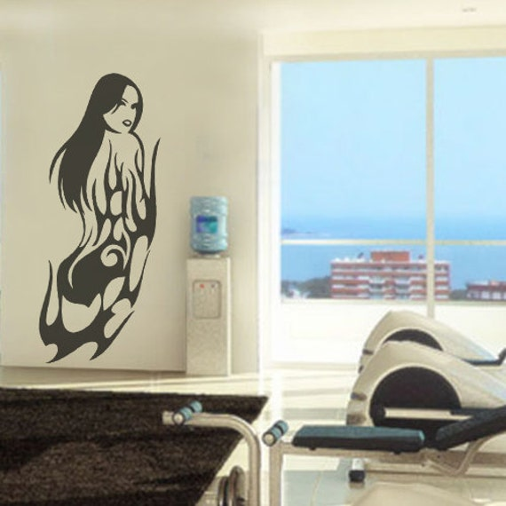 Erotic Woman Sticker Wall Decal Art Home Deco Vynil Living