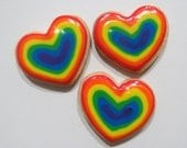 Rainbow Hearts Mini Cookies - Two Dozen (24)