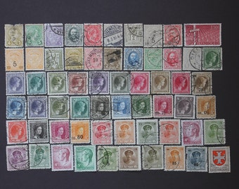 Luxembourg 67 Stamp Collection, Vintage European World Post Postage Rare Stamps