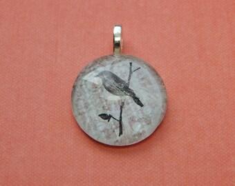 Glass Bird pendant charm