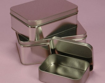 "Rectangle Metal Tin-storage tin 5.5"" x 4"" x 2"""