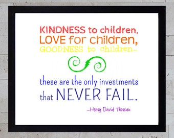 Printable Art - Thoreau Children Quote