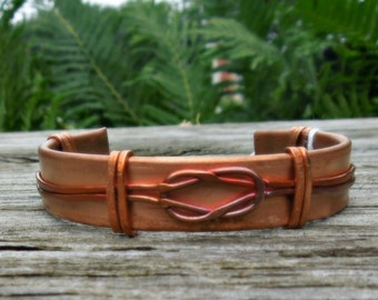 """Copper Embellished Cuff """"The Love Knot"""""""