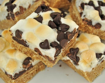 Decadent semi-sweet chocolate marshmallow  S'mores squares 3 lbs!!!
