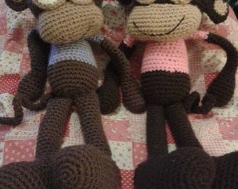 Crochet monkey (made to order)
