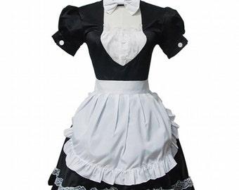 Lolita Lace Princess Dress Black And White Maid Costume