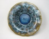 Crystalline Blue Flowers Ceramic Bowl