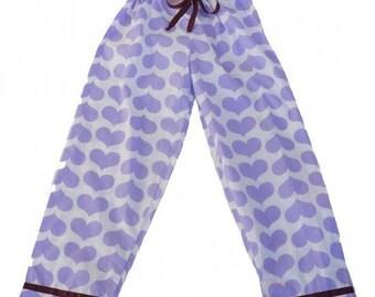 Purple Heart Pajama Pants