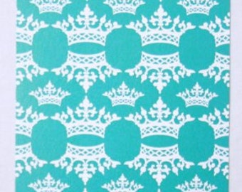 Turquoise Crown Gift Tags