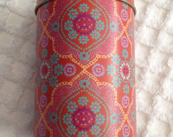 Cylindrical Tin with Button Detail