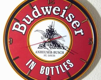 Budweiser Wall Clock, 11.75 Diameter - New